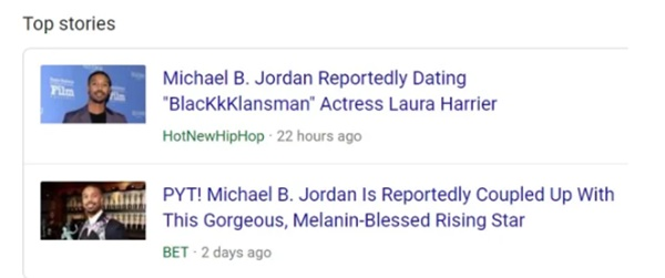 Outlets Now Reporting Klay Thompson's GF is Dating Micheal B Jordan