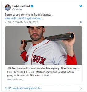 "Red Sox Slugger J.D. Martinez MLB Free Agency ""Embarrassing"""