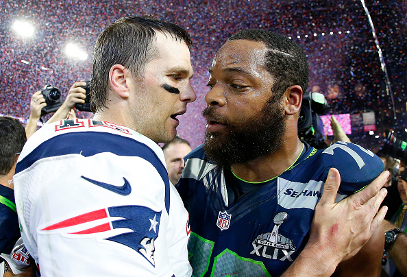 Patriots: Michael Bennett in Locker Room during National Anthem