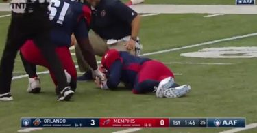 Memphis Express QB Johnny Manziel Suffers Head Injury