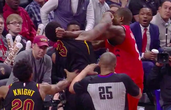 Raptors Serge Ibaka + Marquese Chriss Brawling During Game