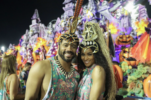 Russell Wilson + Ciara Party with Futbol #GOAT Ronaldo at Carnival Brazil