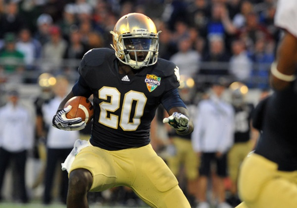 Former Notre Dame RB Cierre Wood Charged With Murder