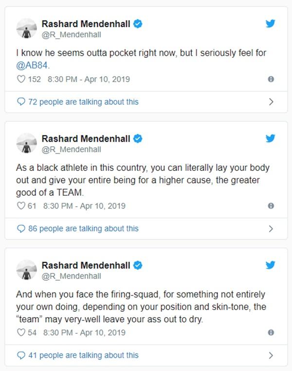Ex-Steelers Rashard Mendenhall CALLS Ben Roethlisberger A Racist
