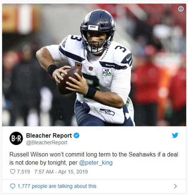 Russell Wilson + Seahawks Agree to Record-Setting Deal