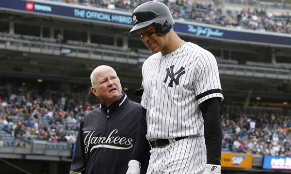 Aaron Judge Joins Growing IL List with 'Significant' Oblique Strain