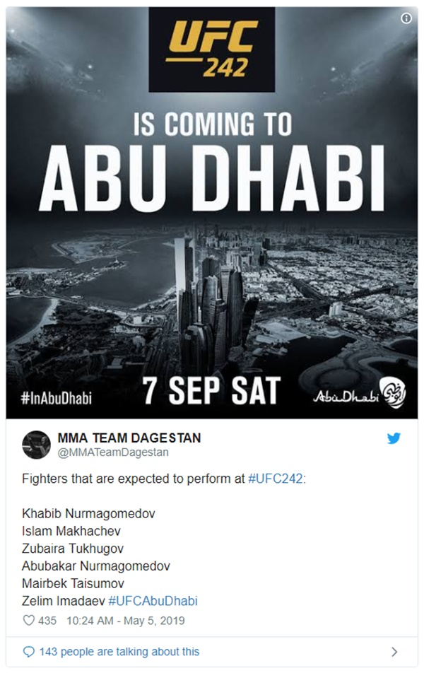 Conor McGregor Deletes Khabib Training Tweet