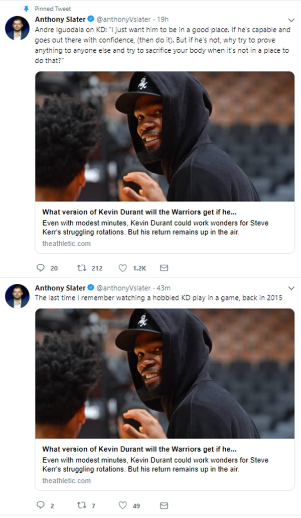 Kevin Durant Will Play in Game 5 of NBA Finals