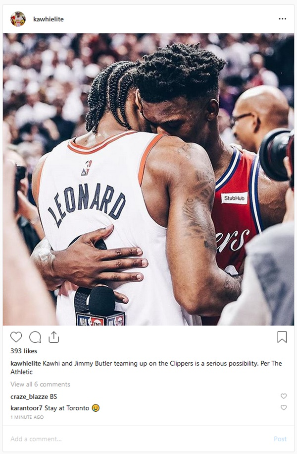 Kawhi and Jimmy Butler Teaming up on The Clippers