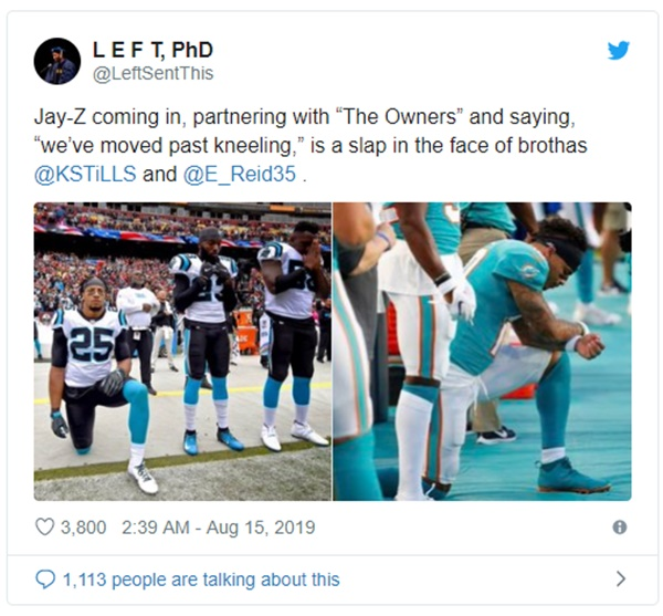 Kaepernick Supports Eric Reid For RIPPING Jay Z