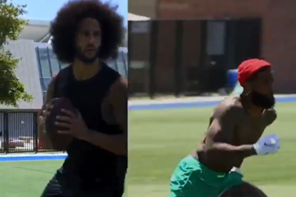 Colin Kaepernick Secret Workout With Odell Beckham