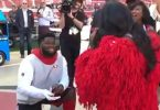 49ers D.J. Jones Proposes To GF On 'MNF' Sideline