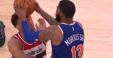 Knicks Marcus Morris EJECTED For SLAMMING Ball in Wizards Justin Anderson Face