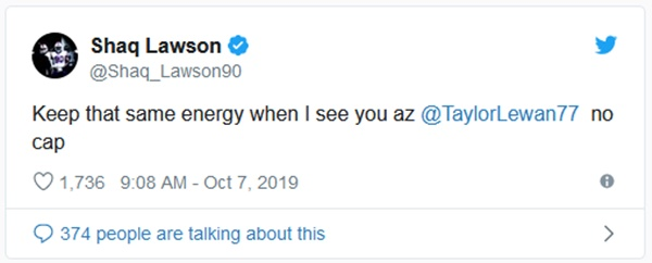 Taylor Lewan + Shaq Lawson Openly Beefing On Twitter