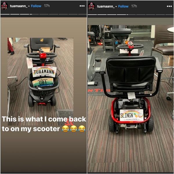 Alabama QB Tua Tagovailoa Welcomed Back To Campus