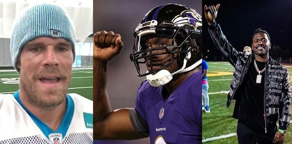 NFL BITES: Panthers TE Greg Olsen KO'd; RGIII Stiff-armed 49ers Coach; AB Sends Hint to Patriots