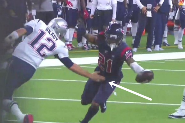 Tom Brady Smacks Bradley Roby Package Failed Tackle After INT