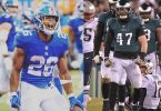 Giants Saquon Barkley Stiff-Arms Eagles Nathan Gerry