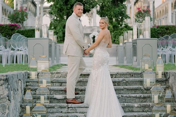 Houston Texans' DE JJ Watt Marries Kealia Ohai