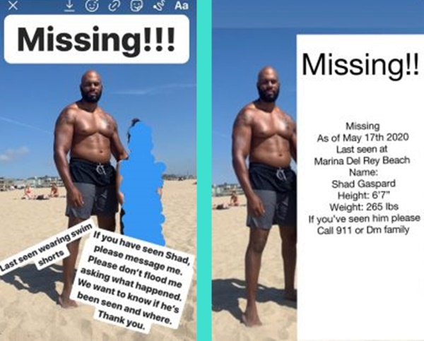 Former WWE star Shad Gaspard Lost At Sea