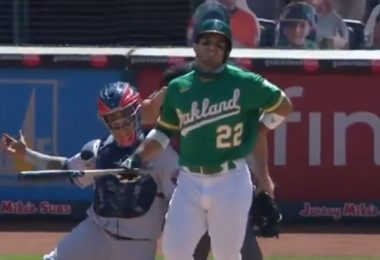 A's Laureano SPRINTS Towards Astros Dugout; FIGHT FIGHT FIGHT