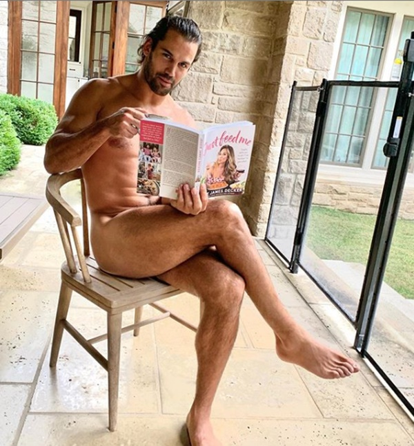 Former NFL Player Eric Decker NAKED Promoting Wife's Cookbook