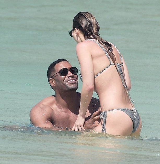 Michael Strahan Hits The Beach With Kayla Quick