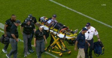Aaron Robinson Stretchered Off Field