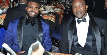 Evander Holyfield Congratulates Son Drafted By Panthers