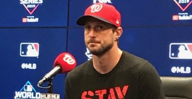 Max Scherzer Out of World Series Game 5; Possibly Back for Game 7
