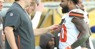 Browns Coach Kitchens Address Ryan Lindley + Jarvis Landry Sideline Yelling Match