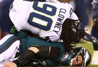NFL Not Fining Jadeveon Clowney For Dirty Hit On Carson Wentz