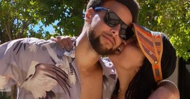 Steph Curry Can't Hide The Bulge For Ayesha Straddling Him