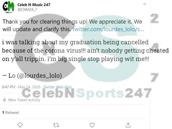 Lourdes CONFIRMS DeAndre Baker Cheating Rumors FALSE