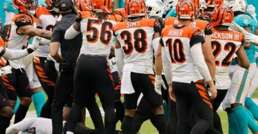 Bengals + Dolphins Get Into Brawl On The Field