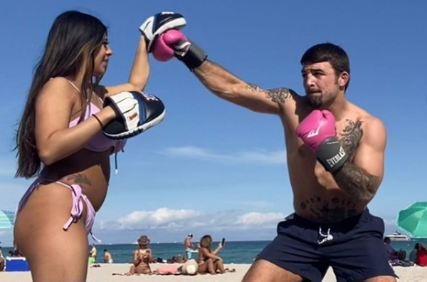 UFC Fighter Mike Perry Uses GF Latory Gonzalez For Punching Exercises