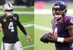 Raiders QB Derek Carr Trade in Works For Texans QB Deshaun Watson