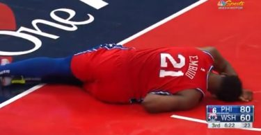 Joel Embiid Leaves Game After Scary Left Knee Injury