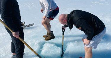 JJ Watt is FROZEN in Outdoor Ice Bath with Brothers