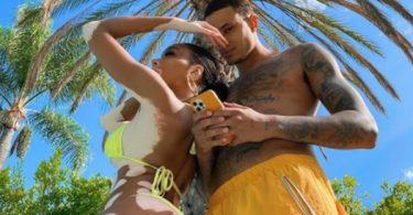 Kyle Kuzma Shirtless Chilling With GF Winnie Harlow in Sexy G-String