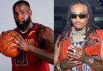Cleveland Cavaliers Kendrick Perkins and Quavo Beefing