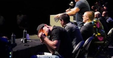 Nate Diaz Smokes Weed During UFC 263 Press Conference