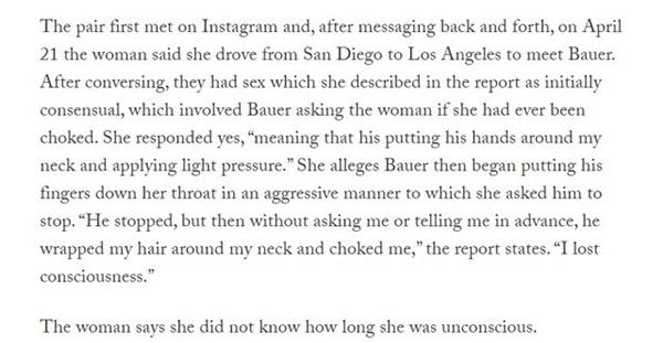 Details of Alleged Assault by Trevor Bauer Surface