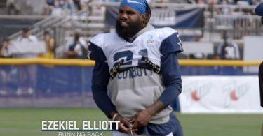 Cowboys RB Ezekiel Elliott Baby Powder Video is Hilarious