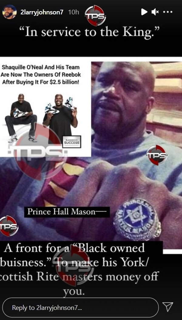 Larry Johnson Calls Out Shaq For Being Part of The Illuminati